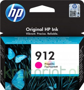 Tusz HP912 do OfficeJet Pro 8023 3YL78AE Magenta
