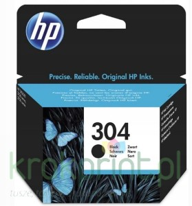 Tusz Hp No304 N9K06AE Black Deskjet 2632 3720 3735
